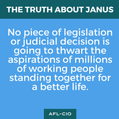 No piece of legislation or judicial decision is going to thwart the aspirations of millions of working people standing together for a better life.